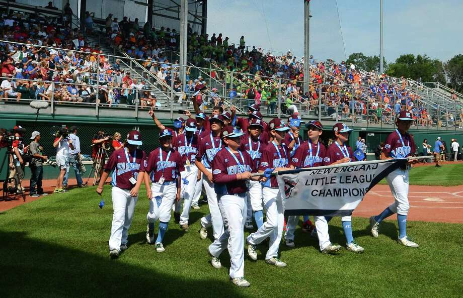 Members of the Fairfield American little league team take part in the Little League World Series Opening Ceremonies at Volunteer Stadium in South Williamsport, Penn., on Thursday Aug. 17, 2017. The LLBWS Opening Ceremonies ushers in 10 days of baseball action at the Little League International Complex located in South Williamsport, Penn. The Opening Ceremonies is highlighted by the Parade of Champions, where the 16 teams participating in the Series parade in front of enthusiastic family, friends and fans. Photo: Christian Abraham / Hearst Connecticut Media / Connecticut Post