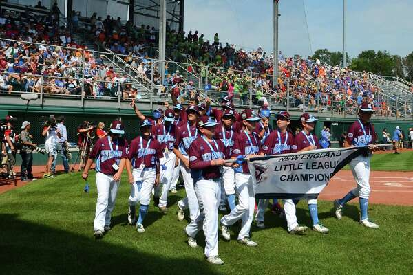 Members of the Fairfield American little league team take part in the Little League World Series Opening Ceremonies at Volunteer Stadium in South Williamsport, Penn., on Thursday Aug. 17, 2017. The LLBWS Opening Ceremonies ushers in 10 days of baseball action at the Little League International Complex located in South Williamsport, Penn. The Opening Ceremonies is highlighted by the Parade of Champions, where the 16 teams participating in the Series parade in front of enthusiastic family, friends and fans.