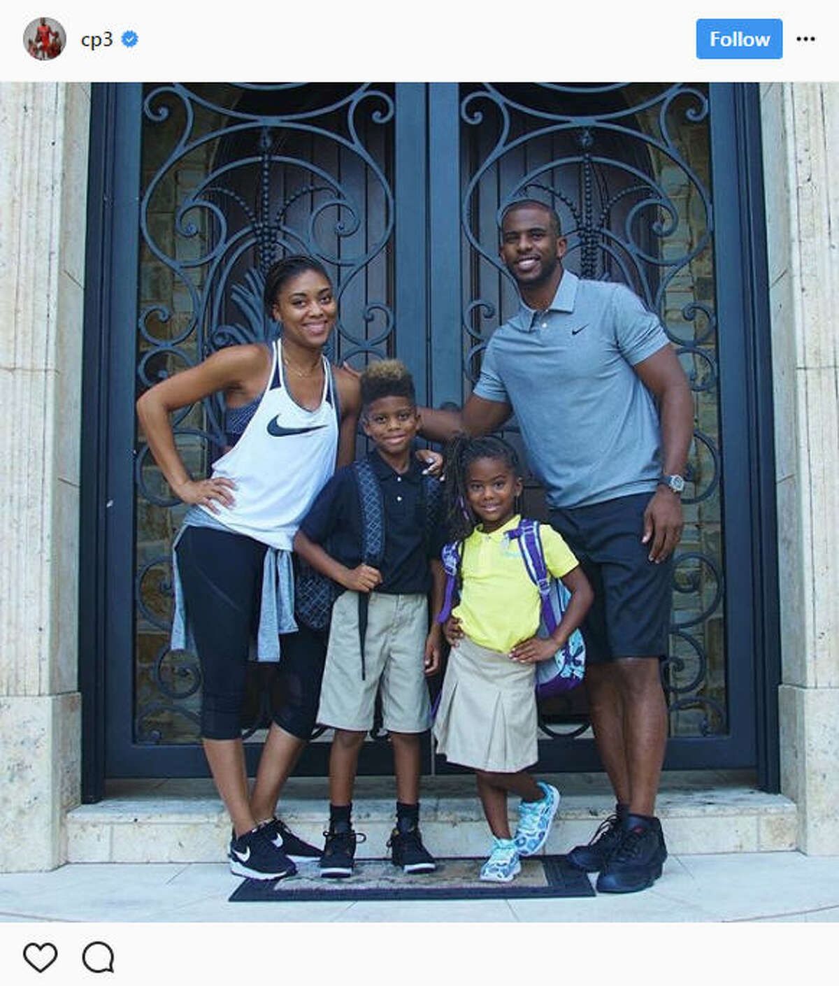 Chris Paul is among the dozens of Houston-area parents and teachers boasting their first day of school photos of their kids. Keep going to see the adorable local kids shared on social media by their parents for the first day of school.Source: Instagram