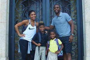 Chris Paul is among the dozens of Houston-area parents and teachers boasting their first day of school photos of their kids. Source:  Instagram