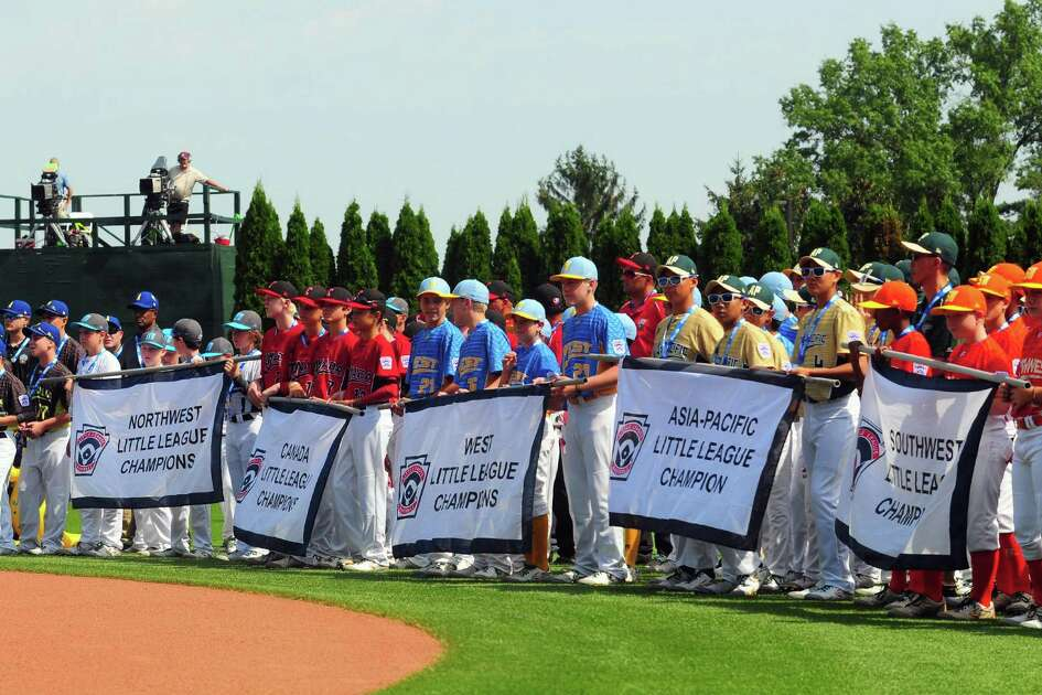 Little league teams from around the world take part in the Little League World Series Opening Ceremonies at Volunteer Stadium in South Williamsport, Penn., on Thursday Aug. 17, 2017. The LLBWS Opening Ceremonies ushers in 10 days of baseball action at the Little League International Complex located in South Williamsport, Penn. The Opening Ceremonies is highlighted by the Parade of Champions, where the 16 teams participating in the Series parade in front of enthusiastic family, friends and fans.