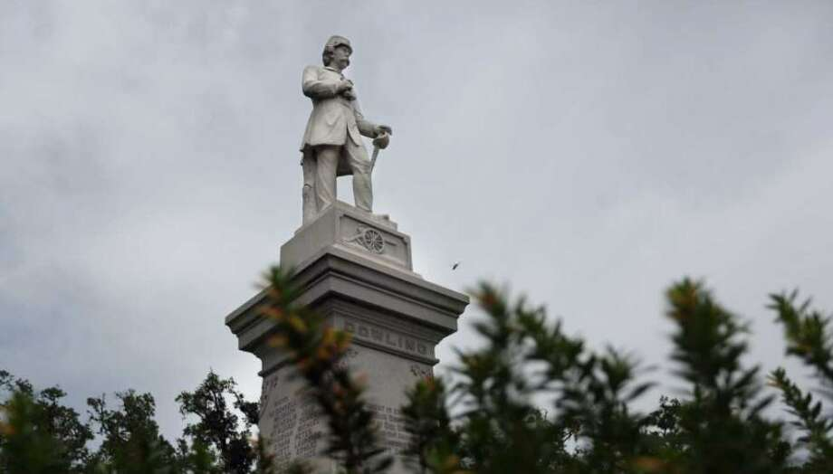 Confederate Dick Dowling's statue stands at the Cambridge Street entrance to Hermann Park. Photo: Mayra Beltran, Houston Chronicle
