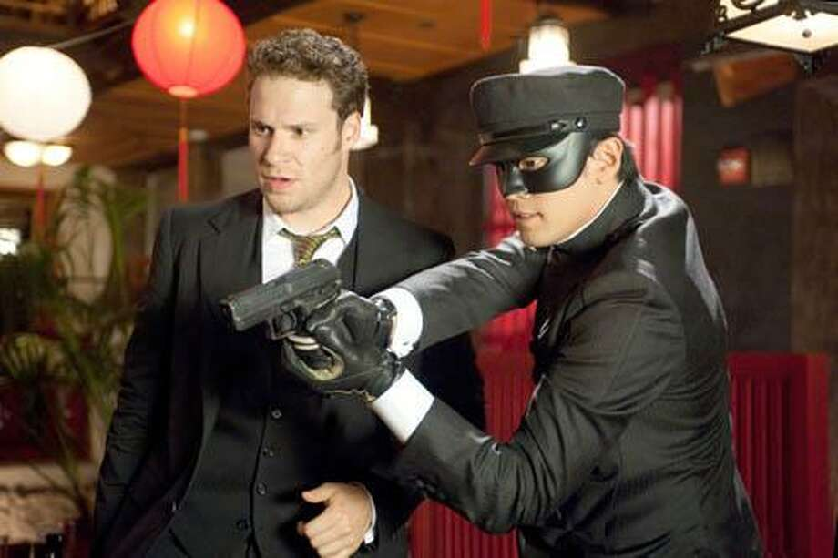 "In this film publicity image released by Columbia Pictures, Seth Rogen, left, and Jay Chou are shown in a scene from ""The Green Hornet."" (AP Photo/Columbia Pictures-Sony, Jaimie Trueblood) Photo: ASSOCIATED PRESS / AP2008"