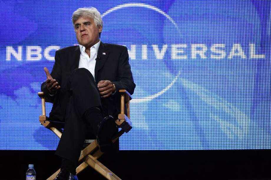 """In this Aug. 5, 2009 file photo, Jay Leno speaks during the panel for """"The Jay Leno Show"""" at the NBC Universal Television Critics Association summer press tour in Pasadena, Calif. (AP)"""