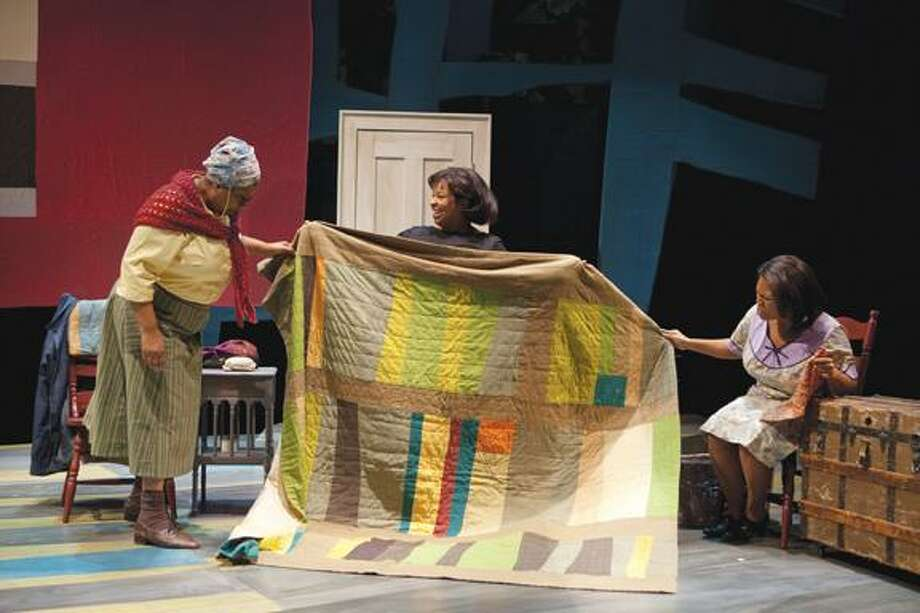 "From left to right: Miche Braden, Kimberly Gregory and Tamela Aldridge on stage performing a scene from ""Gee's Bend."" Photo by T. Charles Erickson. For tickets ($23 to $66), call the Hartford Stage, 50 Church St., Hartford, at (860) 527-5151.(Courtesy Photo) / © T. Charles Erickson"