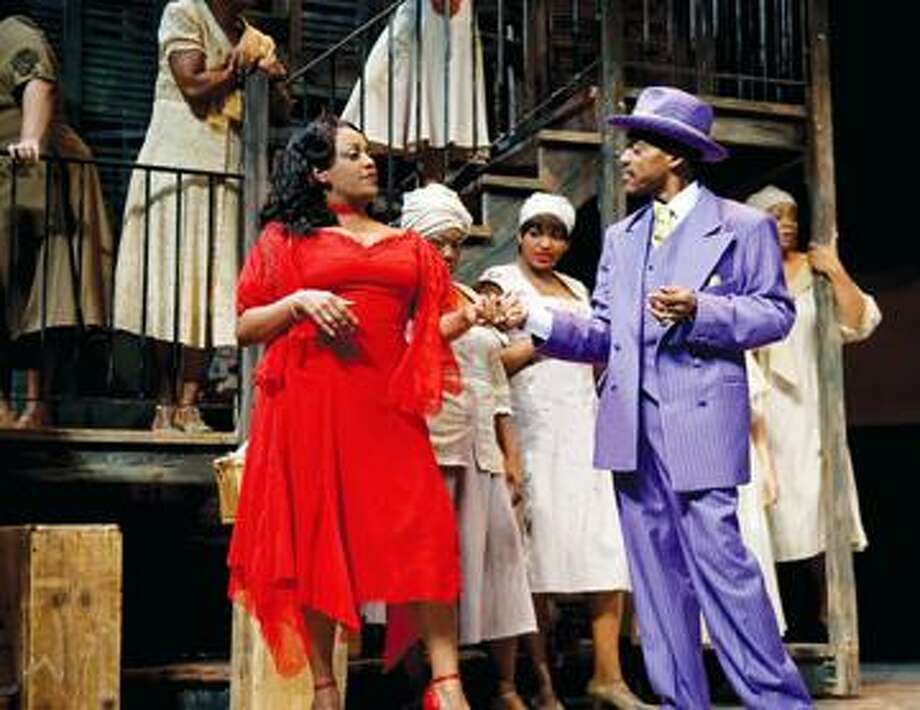 """The cast of """"Porgy and Bess"""" is shown on stage. For tickets ($15-$72), call the Bushnell, 166 Capitol Ave., Hartford, at (860) 987-5900 or visit <a href=""""http://www.bushnell.org"""">www.bushnell.org</a>. Performances are Tuesday, Wednesday and Thursday at 7:30 p.m., Friday at 8 p.m., Saturday at 2 p.m. and 8 p.m., and Sunday at 2 p.m. and 7:30 p.m. (Sarah Shatz Photo: SARAH SHATZ / SARAH SHATZ"""