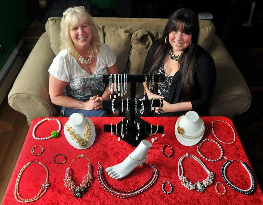 Sandy D'Andrea of Derby and her daughter Stevie Lynn D'Andrea are partners at Jewels for Hope. (Brad Horrigan/Journal Register News Service)
