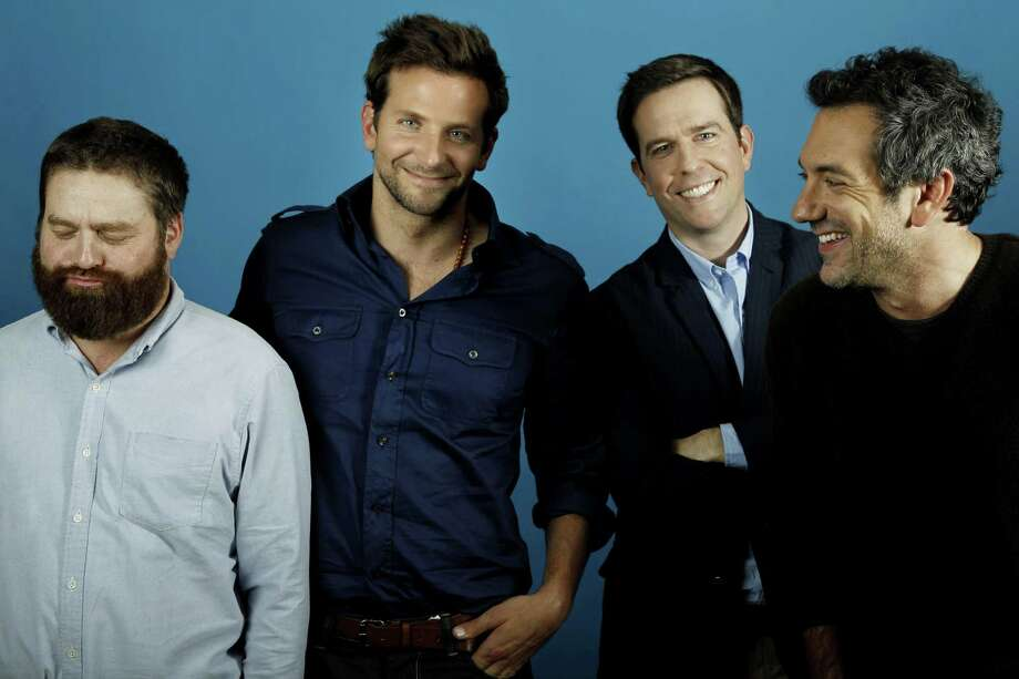 "From left, actors Zach Galifianakis, Bradley Cooper, Ed Helms, and director Todd Phillips, from the upcoming film ""The Hangover Part II,"" pose for a portrait in Beverly Hills, Calif., May 18. The film opens in theatres May 26.  (AP Photo/Matt Sayles) Photo: AP / AP2011"
