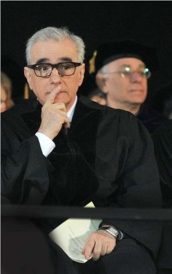 Martin Scorsese at Yale commencement in New Haven.  (Melanie Stengel/ Journal Register News Service)