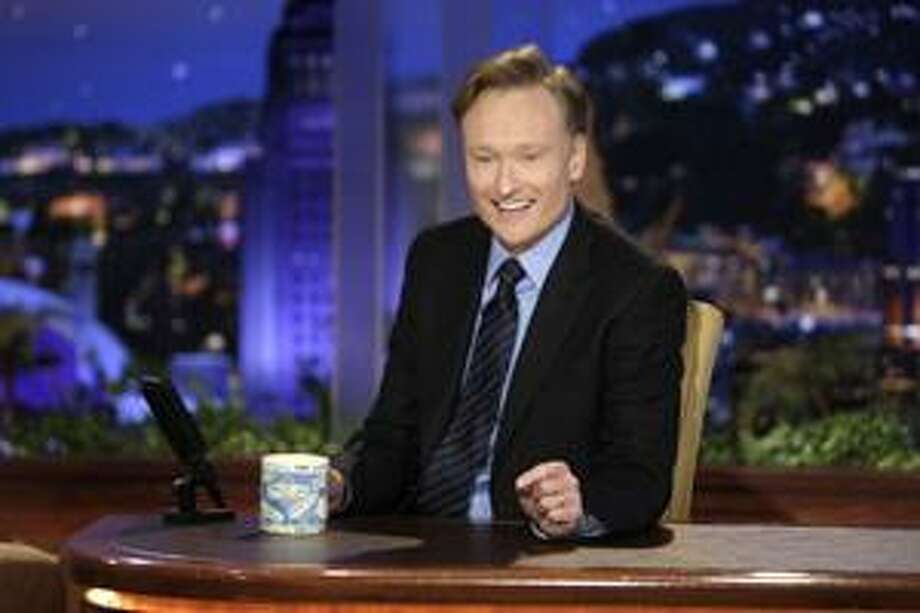 "In this June 1, 2009, file photo provided by NBC, Conan O'Brien  makes his debut as the host of NBC's ""The Tonight Show""  in Universal City, Calif. Photo: ASSOCIATED PRESS / AP2009"