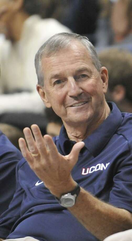 UConn men's basketball team will be without its head coach, Jim Calhoun after he went on medical leave Tuesday. There is no timetable for his return. (Associated Press) Photo: AP / FR125654 AP