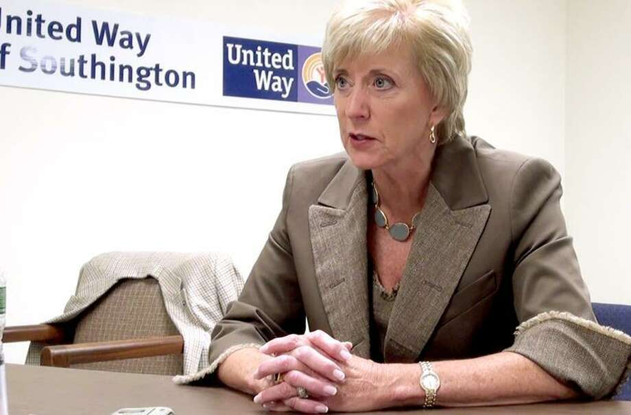 Linda McMahon talks with Register reporter Mary O'leary after her announcement that she was running again for the US Senate. VM Williams092011