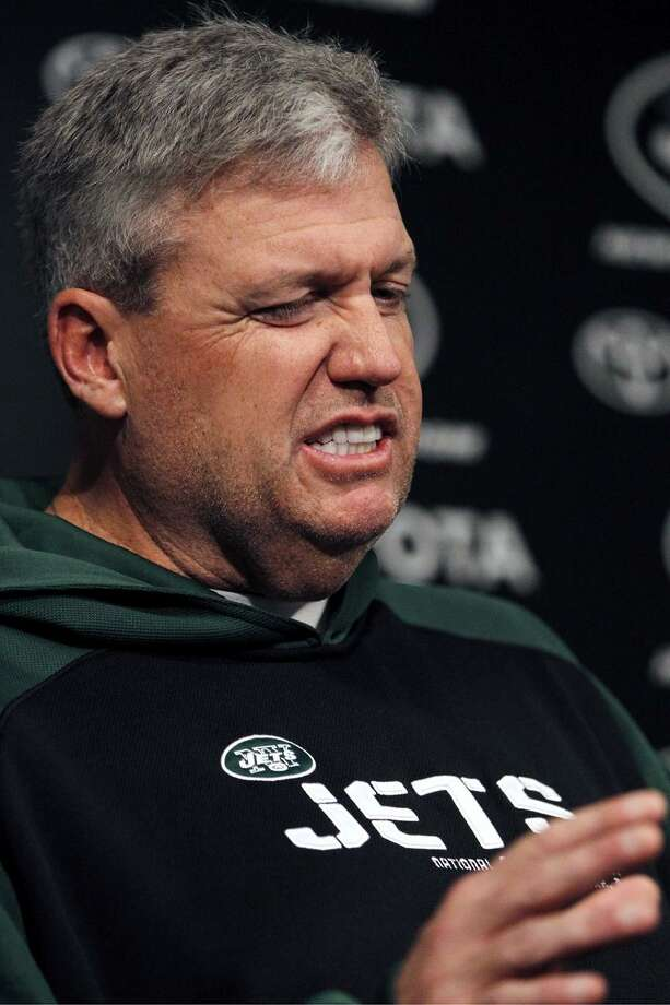 New York Jets head coach Rex Ryan talks to the media, Monday, Jan. 17, 2011 in Florham Park, N.J. The Jets are scheduled to play the Pittsburgh Steelers on Sunday, Jan. 23, in the AFC Conference championship in Pittsburgh. (AP Photo/Julio Cortez)