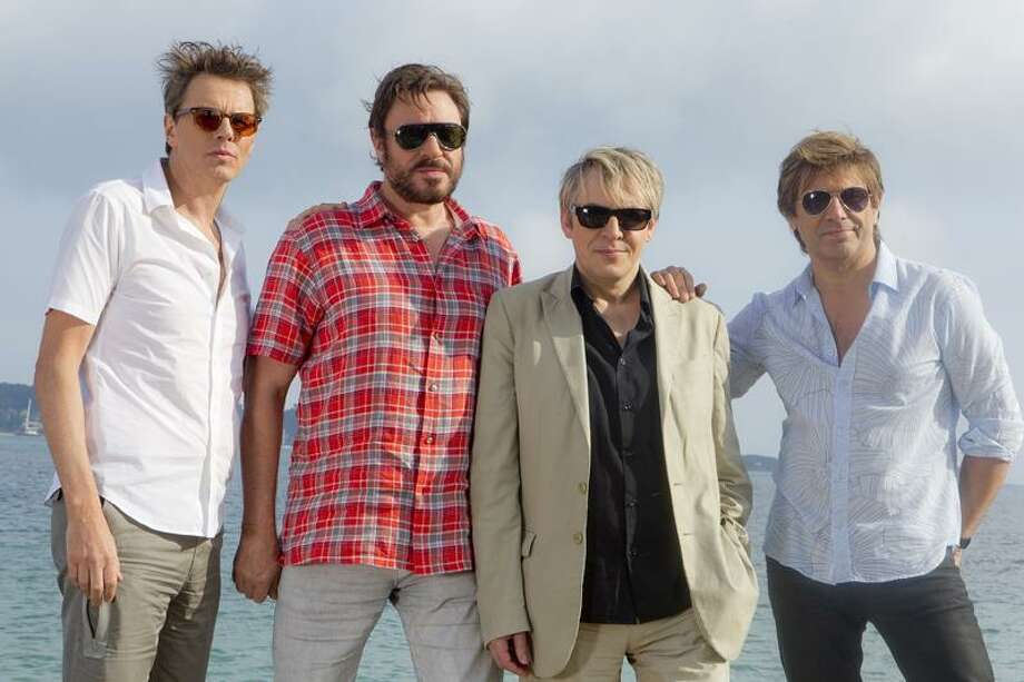 Members of the band Duran Duran, from left, John Taylor, Simon Le Bon, Nick Rhodes and Roger Taylor pose for photographs at the 64th international film festival, in Cannes, southern France, Friday. Associated Press Photo: AP / AP2011