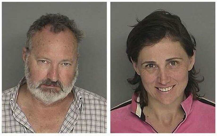 These booking photos provided by the Santa Barbara County Sheriff's Office shows actor Randy Quaid and his wife Evi Quaid. Police arrested the Quaids Saturday Sept. 18, 2010 on charges of felony residential burglary and entering a non-commercial building without consent, a misdemeanor. Police also charged Evi Quaid with resisting arrest. (AP Photo/Santa Barbara County Sheriff) Photo: AP / Santa Barbara County Sheriff's Office
