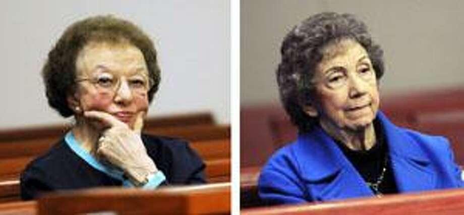 (AP) Rose Bakaysa, of New Britain, left and Theresa Sokaitis, of Middletown, right.