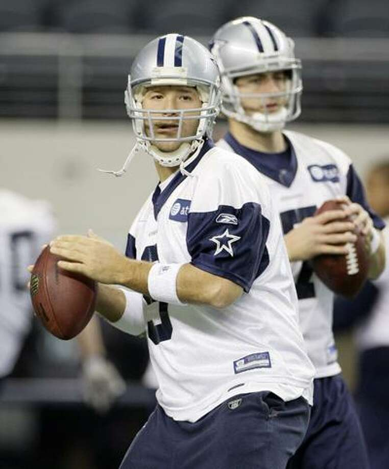 Tony Romo's postseason memories aren't pleasant: the tearful apology to Cowboys teammates after botching the hold on a chipshot field goal his first playoff game, the interception in the end zone to end the other. He finally gets another postseason chance after a record-breaking passing season when he also had a career-low nine interceptions. (Associated Press) Photo: AP / AP