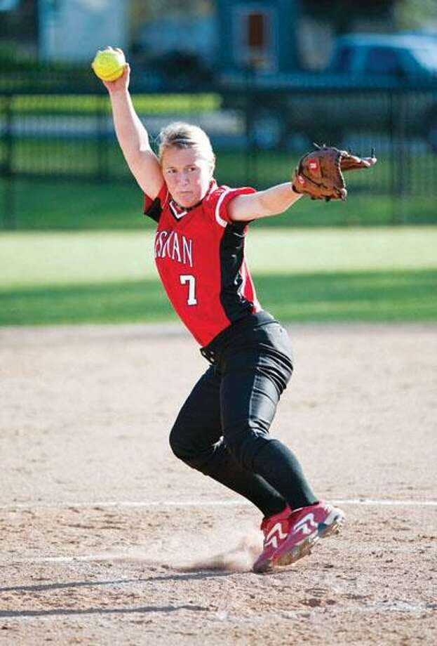Senior pitcher Meaghan Dendy and the Wesleyan softball team have enjoyed a record-setting season and will appear in the program's first-ever NCAA tournament game today against Kean University -- 2 p.m. at Rhode Island College. (Ron Bernstein / Submitted photo)