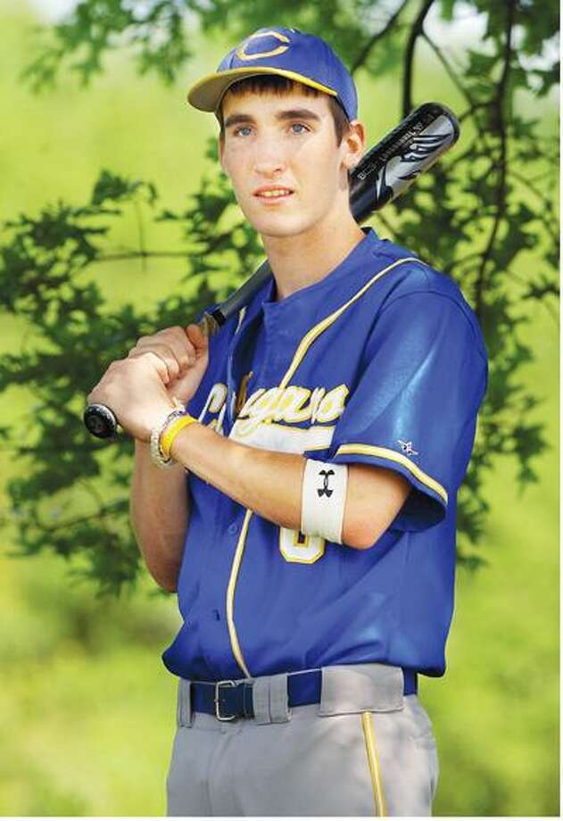 H-K baseball player Colin Sledzik. (Catherine Avalone / Middletown Press)