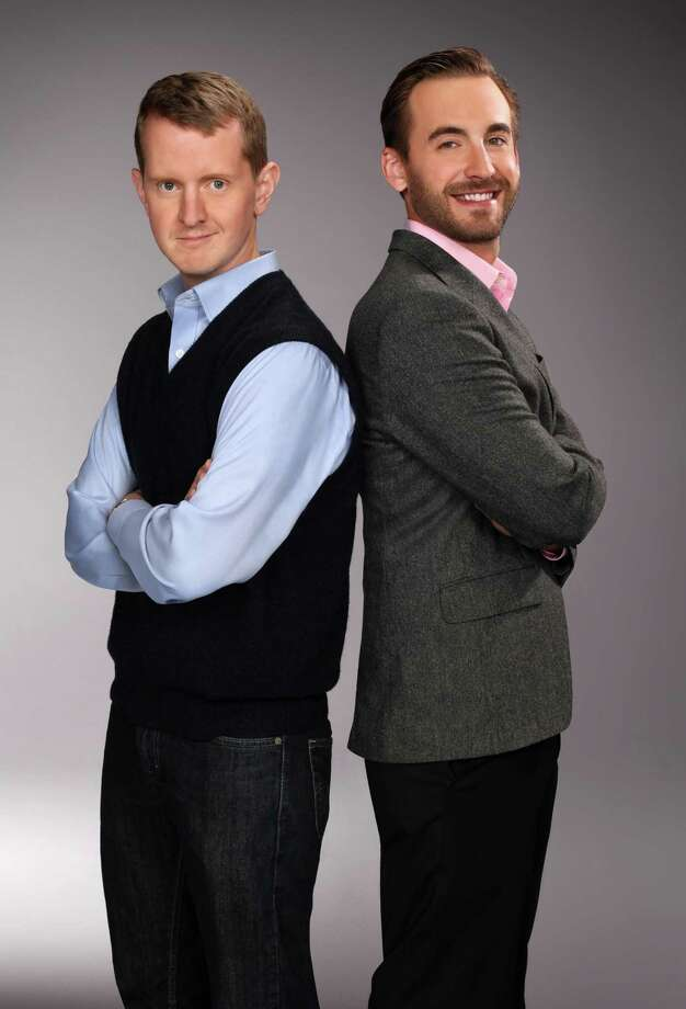 """Ken Jennings, left, and Brad Rutter, two of the most successful contestants on the game show """"Jeopardy!,"""" are shown. On Thursday, Jennings and Rutter will play a practice round against Watson, a hardware and software system developed by IBM's artificial intelligence team. (AP Photo/Jeopardy!, Charles William Bush) Photo: ASSOCIATED PRESS / AP2010"""