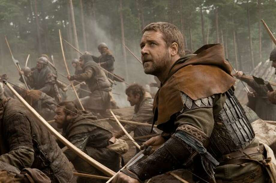 """In this film publicity image released by Universal Pictures, Russell Crowe is shown in a scene from """"Robin Hood."""" (AP) Photo: ASSOCIATED PRESS / AP2009"""
