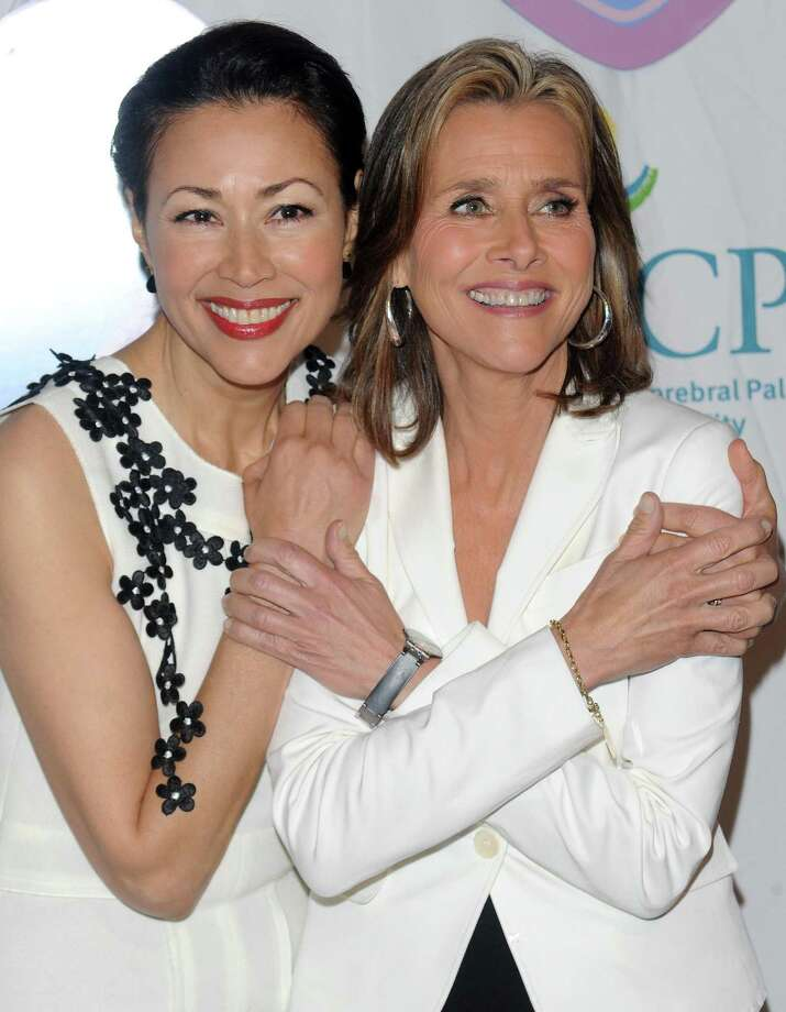 """In this May 6, 2010 photo, """"Today"""" show co-hosts Ann Curry, left, and Meredith Vieira attend the 9th Annual Women Who Care Luncheon benefitting United Cerebal Palsy of NYC at Cipriani's 42nd Street, in New York. Vieira says she is leaving NBC's """"Today"""" show next month, and Ann Curry will replace her as host, The Associated Press reported May 9. (AP Photo/Evan Agostini) Photo: ASSOCIATED PRESS / AP2010"""