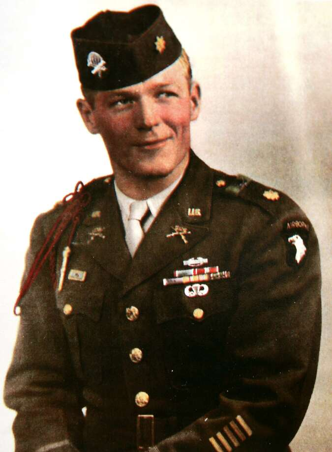 """In this Dec. 1945 file photo provided by Sgt. Maj. Herman W. Clemens, Ret., Maj. Richard """"Dick"""" Winters.  Winters, the man whose quiet leadership was chronicled in the book and television miniseries """"Band of Brothers,"""" died Jan. 2 in central Pennsylvania, a family friend confirmed Monday. He was 92. (AP Photo/Courtesy of Sgt. Maj. Herman W. Clemens, Ret.) NO SALES Photo: ASSOCIATED PRESS / AP2005"""