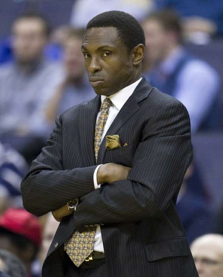New Jersey Nets head coach Avery Johnson looks on during the second half of an NBA basketball game against the Washington Wizards on Friday, Jan. 7, 2011, in Washington.  The Wizards defeated the Nets 97-77.  (AP Photo/Evan Vucci) Photo: ASSOCIATED PRESS / AP2011