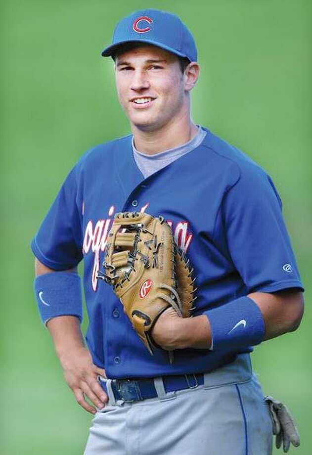 Coginchaug baseball senior, Eric Hewitt. (Catherine Avalone / Middletown Press).