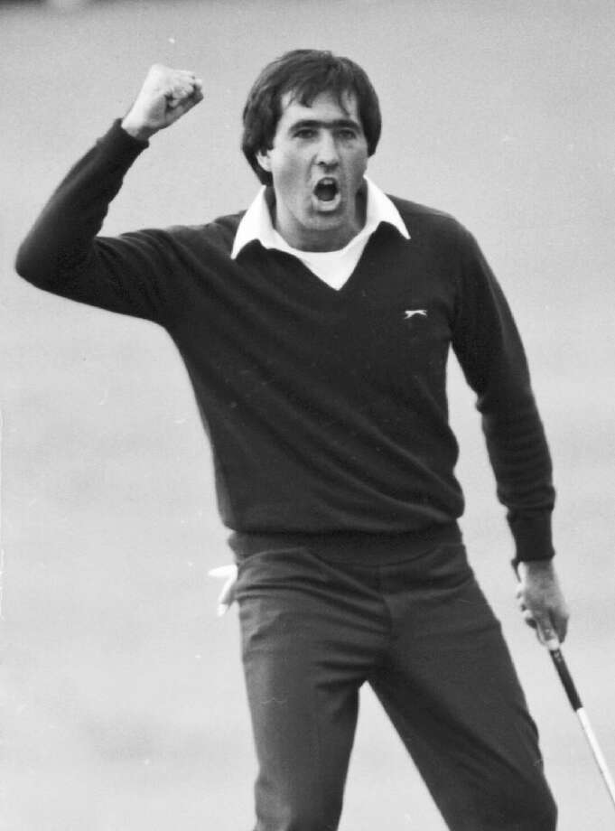 ASSOCIATED PRESS In this July 22, 1984 file photo, Seve Ballesteros reacts after winning the Open Championship golf tournament at St. Andrews, Scotland. Ballesteros died early Saturday from complications of a cancerous brain tumor. He was 54.