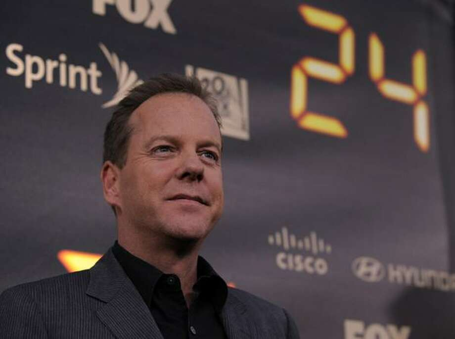 """Kiefer Sutherland, star of the television series """"24,"""" arrives for the """"24"""" Series Finale Party in Los Angeles, Friday. (AP) Photo: ASSOCIATED PRESS / AP2010"""