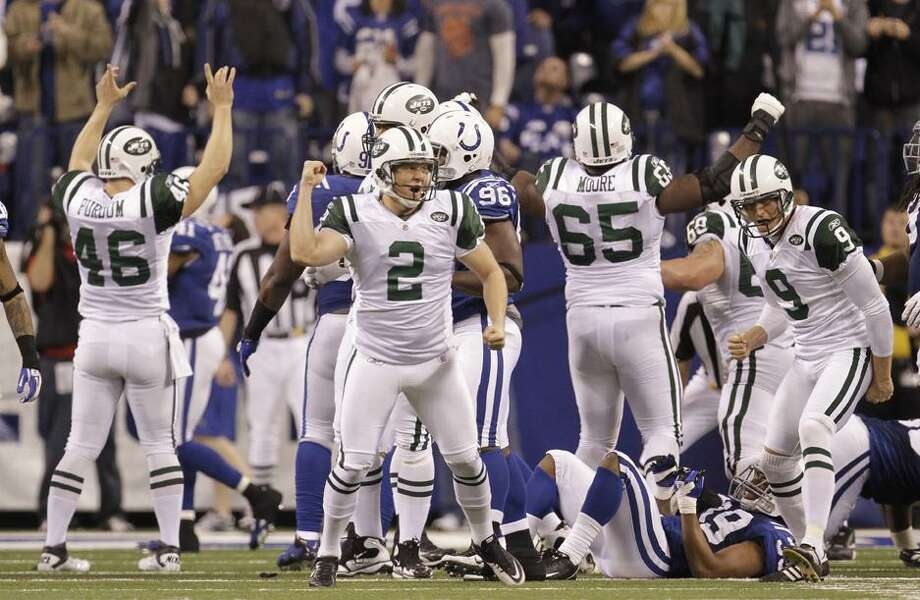 =during the fourth quarter of an NFL AFC wild card football playoff game in Indianapolis, Saturday, Jan. 8, 2011. (AP Photo/Nam Y. Huh)