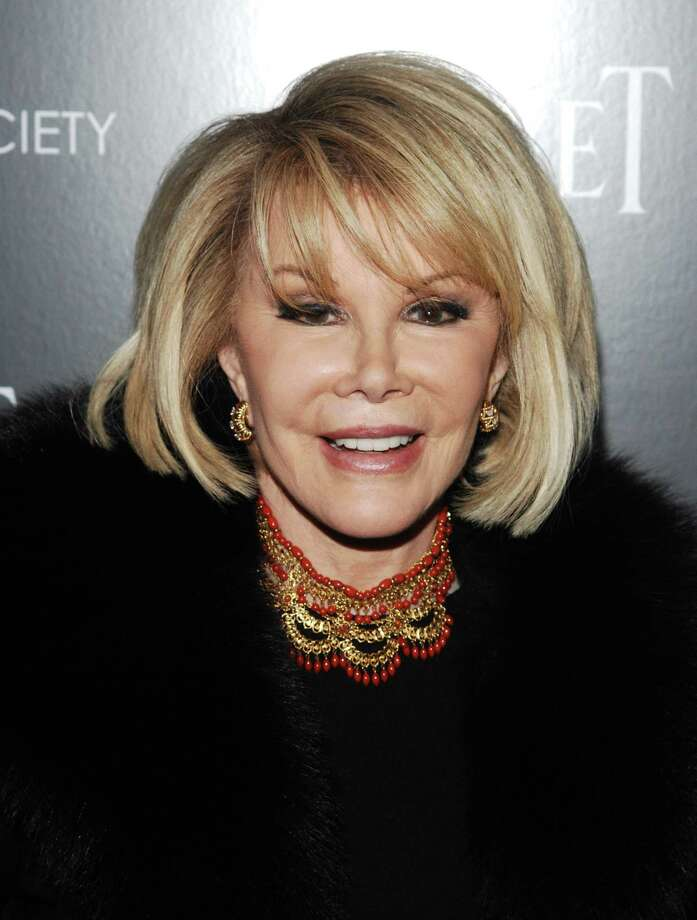 """In this photo, comedian Joan Rivers attends a Cinema Society screening of """"Blue Valentine"""" in New York. (AP Photo/Peter Kramer, file) Photo: AP / AP2010"""