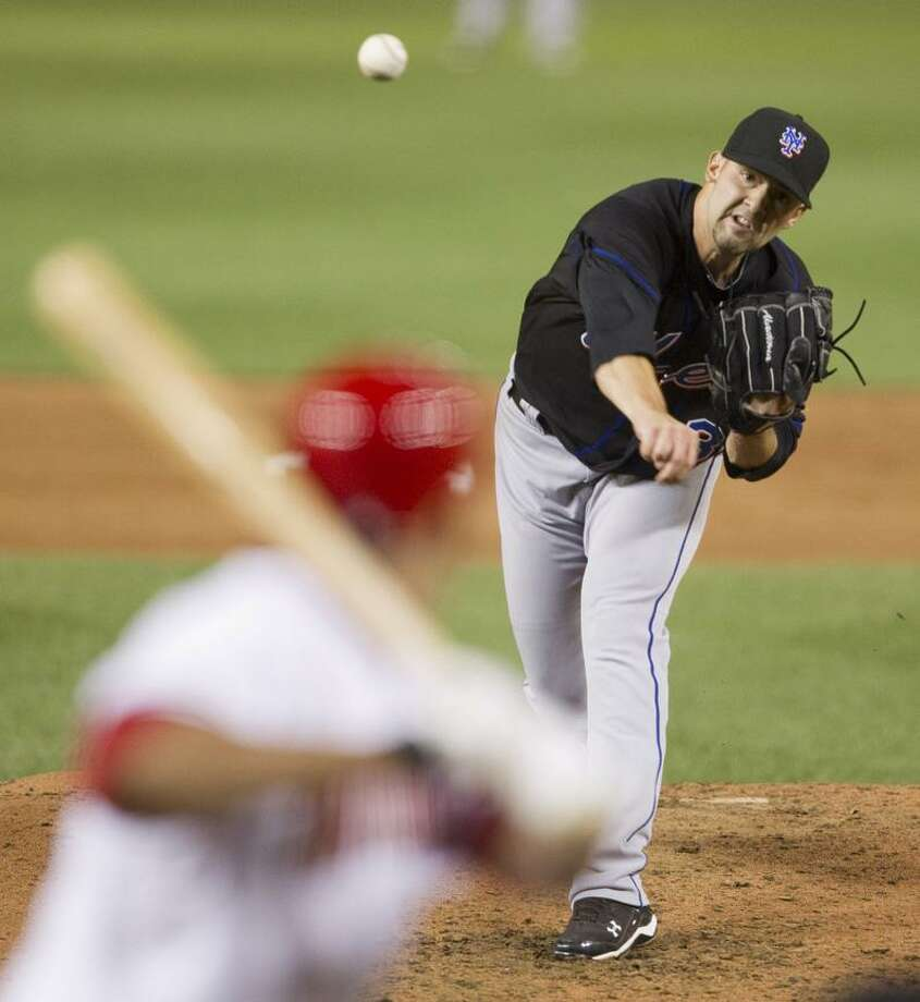 New York Mets starting pitcher Dillon Gee delivers a sixth-inning pitch to Washington Nationals' Ryan Zimmerman during a baseball game Tuesday in Washington.  (AP Photo/Evan Vucci) Photo: AP / AP