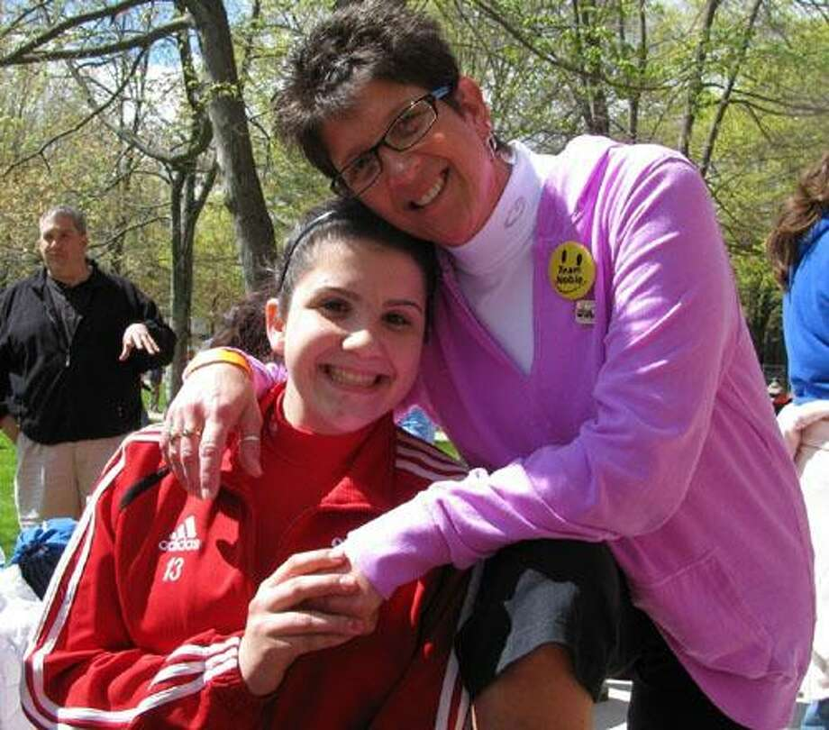 Cromwell resident Lindsay Noble, left, and her mother, Judy, at the 2010 Travelers Walk MS. Judy was diagnosed with MS in 1998 and Lindsay was diagnosed in 2008 at the age of 14. Both lead Walk MS fundraising teams and they have been named the spokespeople for this year's event.