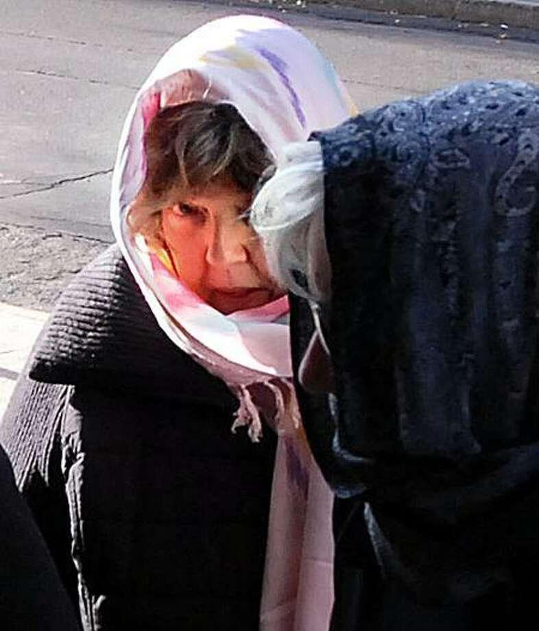 Jude Komisarjevsky, Joshua's mother, arrives Monday at Superior Court in New Haven. (Mara Lavitt/Register)