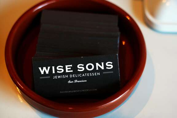 Wise Sons business cards on the counter at the Wise Sons deli that will be opening in the Contemporary Jewish Museum on Friday the 26th of July on Thursday, July 25, 2013 in San Francisco, Calif.