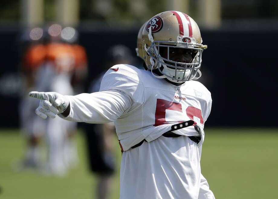 49ers rookie LB Foster limited by injury to right shoulder