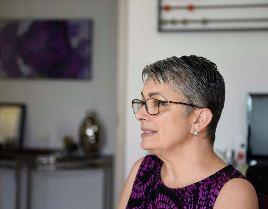 Women's Business Development Council CEO Fran Pastore chats at the WBDC office in Stamford, Conn. Thursday, Aug. 17, 2017. Photo: Tyler Sizemore, Hearst Connecticut Media / Greenwich Time