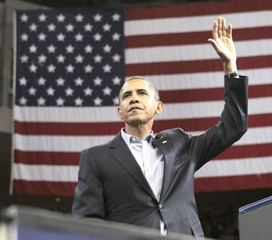 With two days left before the crucial midterm election, President Barack Obama makes a final get-out-the-vote push for Democratic candidates in Bridgeport, Conn., Saturday, Oct. 30, 2010. (AP Photo/J. Scott Applewhite) Photo: AP / AP