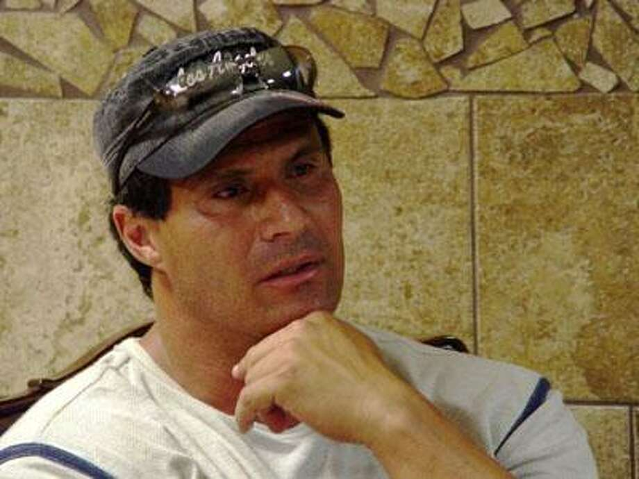 """Former MLB slugger, Jose Canseco, explains the reason behind fighting in Saturday's """"Fight the Good Fight"""" fundraiser presented by the Lions Den is to purely raise money and help support the families of the victims of the Kleen Energy Plant explosion. (Jeremie Smith / Sports Editor)"""