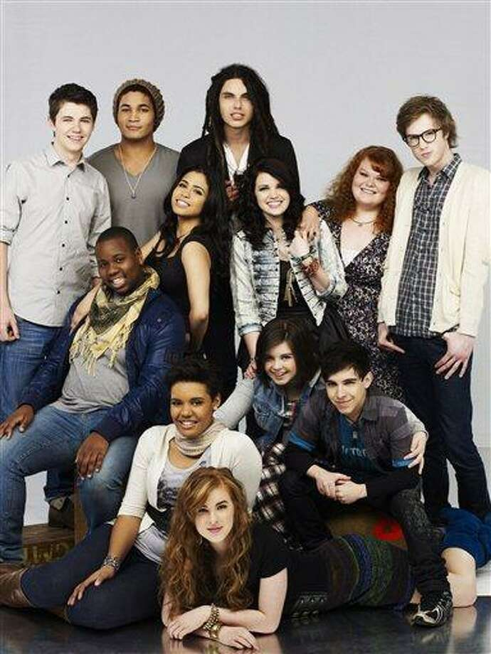 """In this undated publicity image released by Oxygen, the cast of """"The Glee Project,"""" is shown. The winner of the singing competition series, airing Sundays at 9:00 p.m. EST on Oxygen, will receive a 7-episode storyline on the third season of the Fox series """"Glee."""" (AP Photo/Oxygen) Photo: AP / Oxygen"""