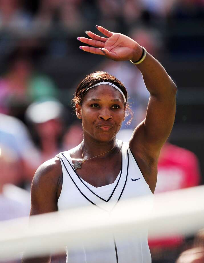 ASSOCIATED PRESS Serena Williams celebrates after winning her match against Russia's Maria Kirilenko Saturday at the 2011 Wimbledon Championships at the All England Lawn Tennis and Croquet Club.