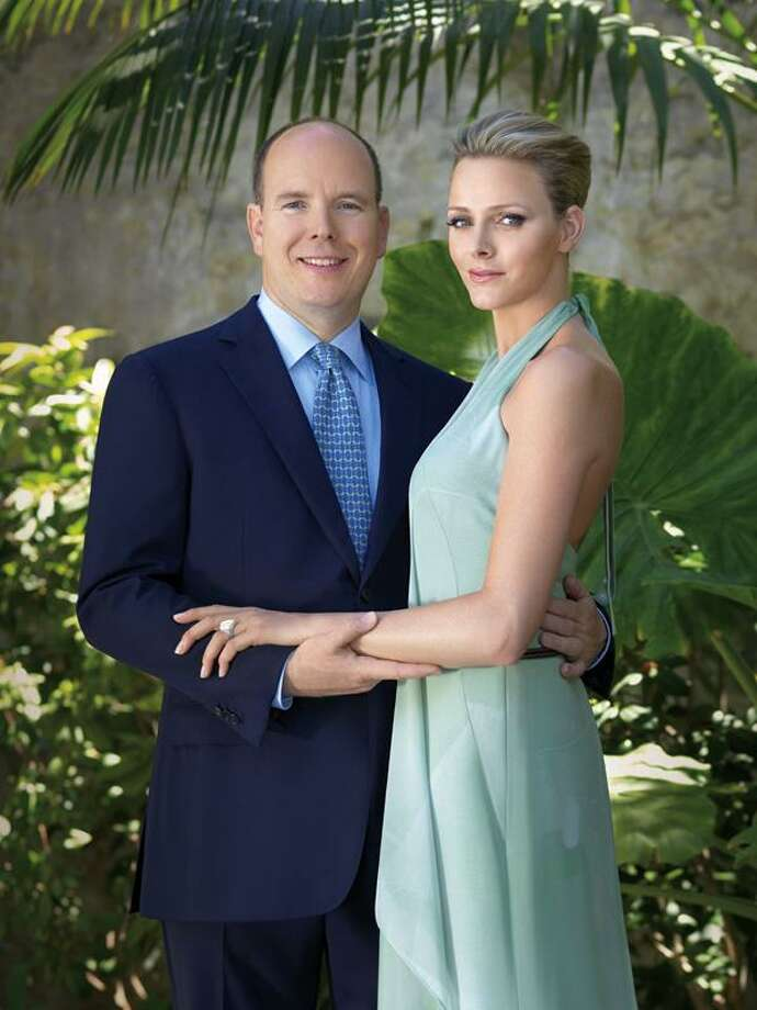 This undated photo provided Wednesday by the Monaco Palace shows Prince Albert and South Africa's Charlene Wittstock. The royal palace says Prince Albert of Monaco is engaged to South African former swimmer Charlene Wittstock. The principality says in a statement that the engagement was announced Wednesday between the 52-year-old prince and 32-year-old Wittstock. (AP) Photo: ASSOCIATED PRESS / MONACO PALACE