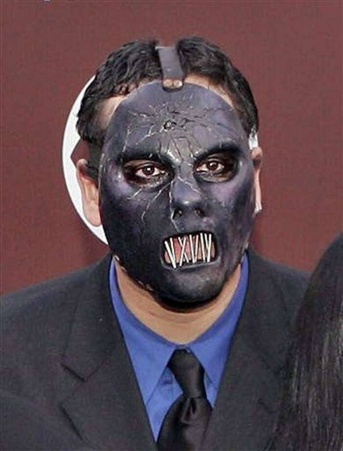 FILE - In this Feb. 13, 2005 file photo, Paul Gray from the group Slipknot arrives for the 47th Annual Grammy Awards at the Staples Center in Los Angeles. Autopsy results show the bassist for heavy metal band Slipknot died of an accidental overdose of morphine and fentanyl, a synthetic morphine substitute, police said Monday June 21, 2010.  (AP Photo/Mark J. Terrill, file) Photo: AP / AP2005