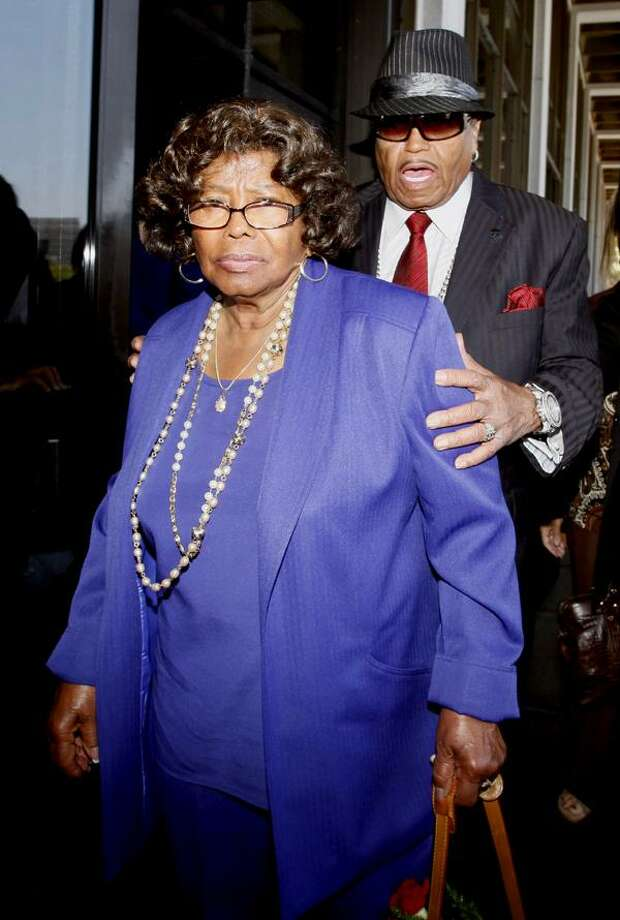 In this June 14 file photo, Michael Jackson's parents, Katherine Jackson and Joe Jackson leave a Los Angeles courthouse after a preliminary hearing  in the trial of Michael Jackson's personal doctor Conrad Murray. (AP) Photo: ASSOCIATED PRESS / AP