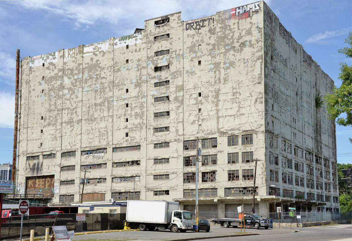 The old Central Warehouse on Thursday, Aug. 17, in Albany. (John Carl D'Annibale / Times Union)