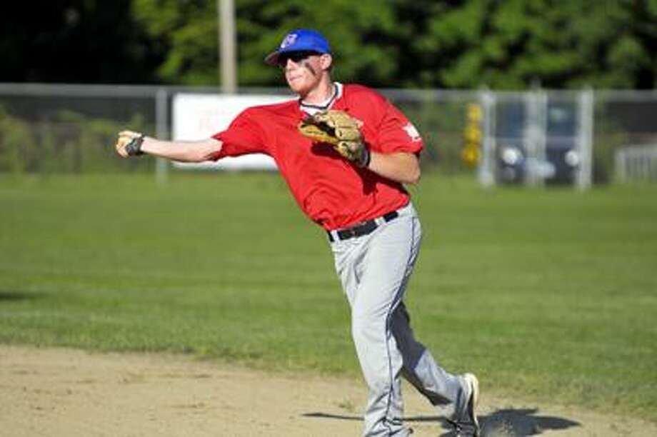 East Haddam's second baseman, Dan Bradley during Monday's game against Middletown Post 75 in American Legion baseball action. (Ralph Chappell / Special to the Press) / Ralph Chappell 2010