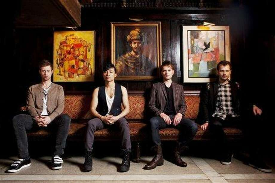 In this publicity image released by Universal Republic Records, members of the band Atomic Tom, from left, Tobias Smith, Eric Espiritu, Luke White and Philip Galitzine, are shown. (AP Photo/Universal Republic Records) Photo: AP / Universal Republic Records