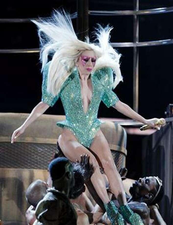 (AP) Lady Gaga performs at the Grammy Awards Sunday in Los Angeles. Photo: AP / AP